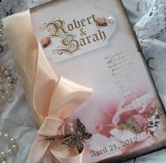 Custom Wedding Guest Book by etsychicuk on Etsy, $85.00