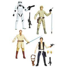 Star Wars Black Series 6-Inch Action Figures Wave 3 Complete Set of 4 Figures Star Wars