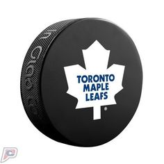 Toronto Maple Leafs Official Basic Collectors NHL Hockey Game Puck by Sher-Wood. Souvenir Hockey Puck.