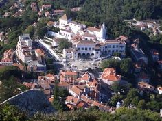 Sintra castle and old town
