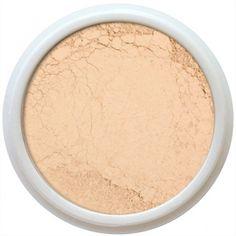 Fairly light semi matte powder foundation