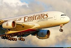 Emirates Airlines aircraft at London - Heathrow photo Airbus A380, Boeing 747, Emirates Airline, Commercial Aircraft, My Happy Place, Airplanes, Dubai, First Love, Aviation