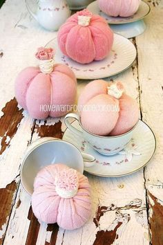 new pink sweet sweater pumpkins, crafts, repurposing upcycling, seasonal holiday decor, NEW for 2013 PINK Sweet Sweater Pumpkins Available September 1 from HOMEWARDFoundDecor com and Shabbyfufu com