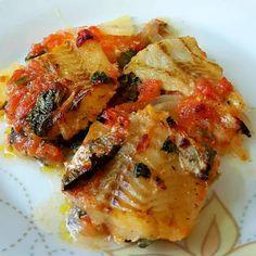 Greek Recipes, Fish Recipes, Cookbook Recipes, Cooking Recipes, Greek Fish, Paleo, Keto, Gluten Free Diet, Atkins