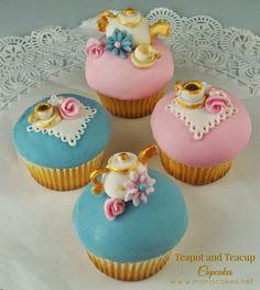 Teapot and Teacup Cupcakes