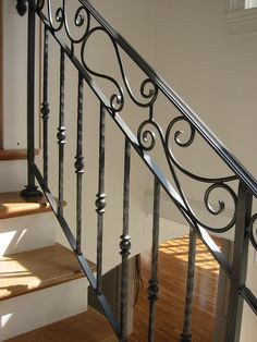 Custom interior wrought iron railing