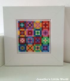 Jennifer's Little World blog - Parenting, craft and travel: Hama bead quilt style picture