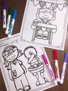 February Coloring Pages - A Four Pack Coloring Book Bundle with 87 Pages - Your students will LOVE the 87 pages that comes in this bundle for February! Terrific for a daily coloring page OR have a p Mothers Day Coloring Pages, Summer Coloring Pages, Christmas Coloring Pages, Coloring Book Pages, Printable Coloring Pages, New Years Activities, Christmas Activities, February Colors, Math Subtraction