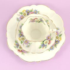 Vintage Tea Cup and Saucer Dessert Set by ChatsworthVintage, $30.00
