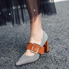 Chiko Krystine Chunky Heel Mary Jane Pumps