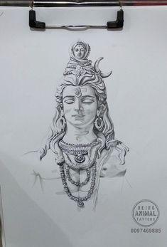 Shiva tattoo drawing made by my student Vijay ghusar (Babu) for upcoming tattoo. Kali Tattoo, Shiva Tattoo Design, Ganesha Tattoo, Inca Tattoo, Cool Art Drawings, Pencil Art Drawings, Art Drawings Sketches, Lord Ganesha Paintings, Lord Shiva Painting