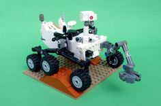 NASA's Mars rover Curiosity, which for the past 10 months has been driving across the Red Planet, will be the next model to roll off LEGO's CUUSOO product line. The car-size rover will be the next release in LEGO's line of fan-created building brick toys. Curiosity Mars, Legos, Mars Science Laboratory, Minecraft, Lego Kits, Cool Lego Creations, Lego Worlds, Lego Models, Model