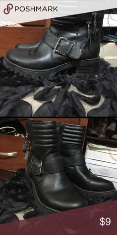 Mossimo Biker Boots Used Mossimo Black Biker Boots Mossimo Supply Co Shoes Ankle Boots & Booties