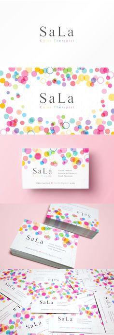 Color therapist business card design | 宝石のようなカラーセラピストの名刺デザイン。 #businesscard #card #design #color #colorful #colortherapist #gem #jewelry #名刺 #カード #デザイン