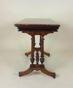 19th C. Figured Walnut Fold Over Card Table by Lamb of Manchester | From a unique collection of antique and modern card tables and tea tables at https://www.1stdibs.com/furniture/tables/card-tables-tea-tables/