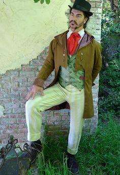 Raya marrón Steampunk vestido corte de la boda chaqueta