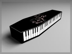 Piano-shaped coffin? People are dying for one... #piano #casket #coffin