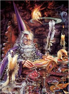 magician with Magic book