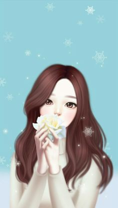 Ideas For Drawing Kawaii Girl Sketch Cute Kawaii Girl, Cute Cartoon Girl, Kawaii Anime Girl, Anime Art Girl, Anime Korea, Lovely Girl Image, Cute Girl Drawing, Cute Girl Wallpaper, Trendy Wallpaper