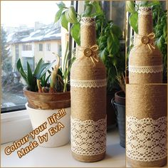 Up-cycled bottle :)