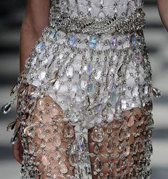 Iridescent crystal dress