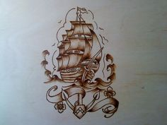 Lid of Pirate chest
