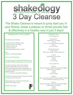 3-day-shakeology-cleanse-instructions.jpg 1,000×1,294 pixels