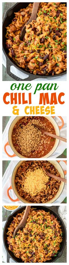 Must make recipe for game day and March Madness! One Pan Chili Mac and Cheese - Mexican-style mac and cheese, made completely from scratch! SO easy and ready in 30 minutes.  www.wellplated.com