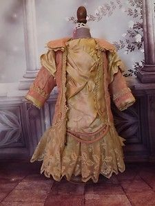 Antique Doll Clothes | ... doll dress of antique fabrics, Silks, great for Antique Dolls clothes