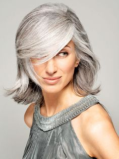 Salt and Pepper Highlights hair | ... Seven Best Tips & Tricks for Successfully Growing Your Gray Hair Out