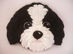 Resultado de imagem para felt dog ornaments