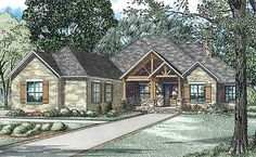 Rustic Brick Ranch Home With Sunroom - 60603ND | Ranch, 1st Floor Master Suite, Butler Walk-in Pantry, CAD Available, Den-Office-Library-Study, PDF, Split Bedrooms, Corner Lot | Architectural Designs