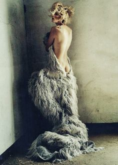 Agyness Deyn in Alexander McQueen | Ph. by Tim Walker British Vogue May 2011