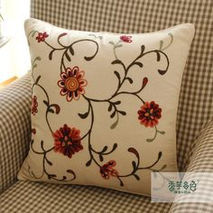 Blossom Season Embroidery Pillow