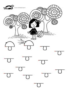 printables for kids Preschool Printables, Preschool Worksheets, Preschool Kindergarten, Autumn Activities For Kids, Toddler Activities, Mothers Day Coloring Pages, Motor Skills Activities, Hidden Pictures, Tracing Worksheets