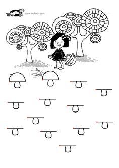 printables for kids Preschool Printables, Preschool Kindergarten, Preschool Worksheets, Autumn Activities For Kids, Toddler Activities, Mothers Day Coloring Pages, Motor Skills Activities, Pre Writing, School Themes