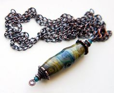 Lampwork necklace  Timeless Lantern by Bexrox on Etsy, $32.00
