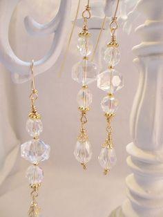 Chandelier Crystal Set Christmas Ornament Set by LaReineDesCharmes, $12.50