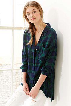BDG Logan Button-Down Shirt - Urban Outfitters