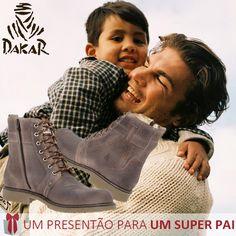 Para um passeio divertido com o seu Pai, mas sem faltar conforto nos pés, é preciso que ele use as Botas Dakar. Além de ficar super estiloso, seu passeio ficaria mais legal ainda. #DiadosPais #Dakar #PresentePai #Pai #Moda #BotasDakar #AdoroPresentes #Botas