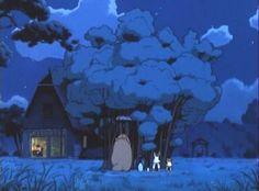 Day 19 - Favorite scene from favorite Ghibli film: Making a tree grow (My Neighbor Totoro)