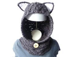 CROCHET PATTERN Cat Cowl Hooded Cowl Pattern Hooded by zxcvvcxz #catcowl #hoodedcowl #crochetpattern