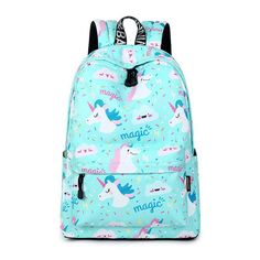 This awesome magic unicorn backpack is quality crafted and matches your unique enchanted unicorn style perfectly. This versatile backpack has space for everything you need in your magically busy life, including a laptop sleeve! If anyone in your life really loves unicorns they will love this amazing enchanted gift.