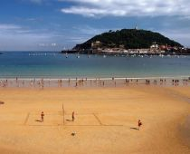 Playa de la Concha, en Donostia-San Sebastián, Guipúzcoa.