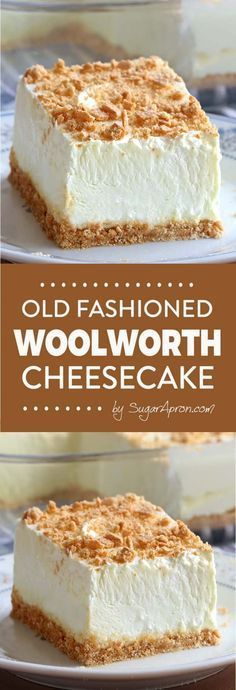 No Bake Classic Woolworth Cheesecake - Sugar Apron No Bake Woolworth Cheesecake is a classic, light and lemony dessert and will be the perfect addition to your Easter or Mother's Day menu! Chocolate Desserts, Fun Desserts, Dessert Recipes, Baking Desserts, Classic Desserts, Dessert Healthy, Baking Cakes, Chocolate Chips, Dessert Ideas