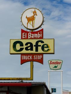 Classic roadside truck stop cafe Old gas stations, Big