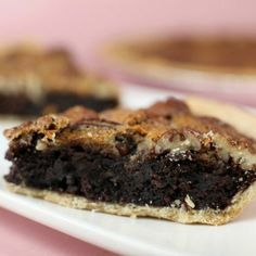 Brownie Pecan Pie, yes please!