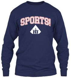 Sports! Navy Long Sleeve T-Shirt Front