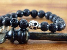 Mens Lava Bracelet Men's Skull Bracelet Men's Yoga
