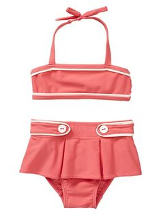 don't mind this 2 piece for the girl... usually not into bikinis for the littles, but this one is adorable!!